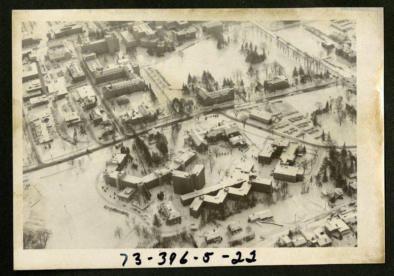 Aerial View of Lambton Hall, ca 1969