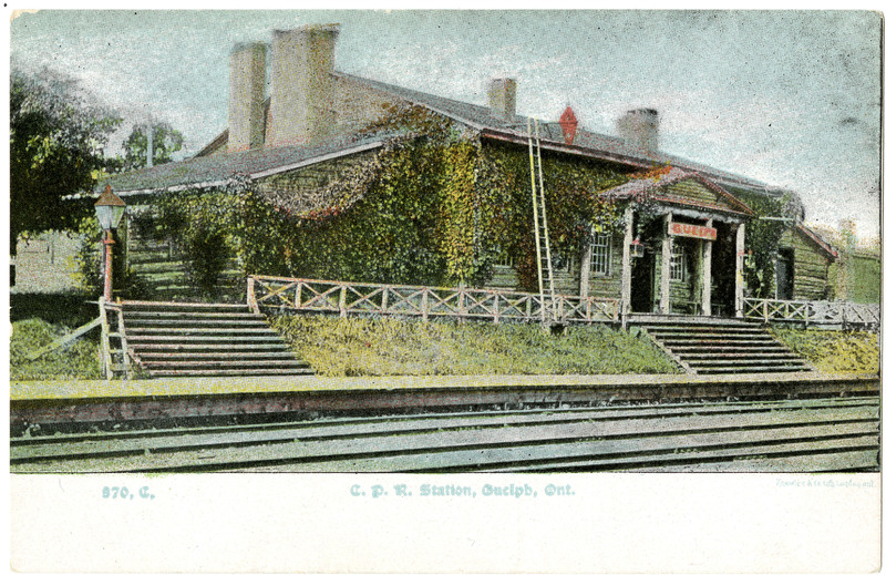 St. George Station (Guelph, Ontario, Canada) Postcard