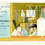 Tweed, Clothing, and Furnishings. E. R. Bollert No. 27, Lower Wyndham St, Guelph, Ont. Be Sure and Call - Tradecard