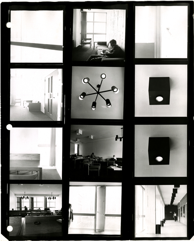 Contact sheet of photographs of Mackinnon Building (1967)