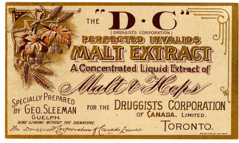 Perfect Invalids Malt Extract Label