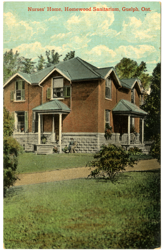 Nurses' Home, Homewood Sanitarium, Guelph, Ont (postcard)