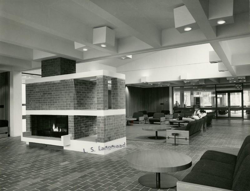 Photograph of Mackinnon Building Fireplace (1967)