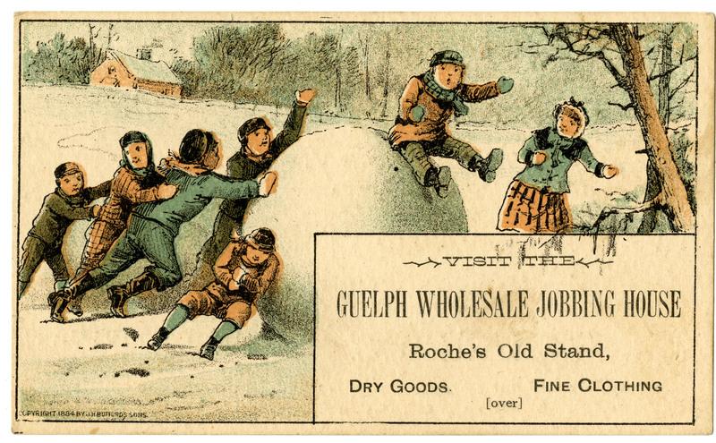 Guelph Jobbing House Trade Card Front