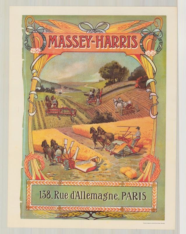 Massey-Harris, 138 d'Allemange Paris Poster