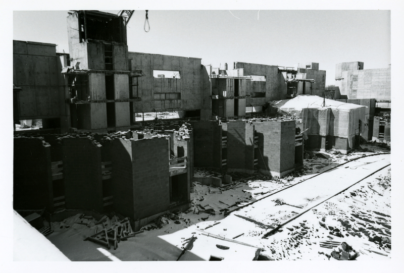 Photographs of the Construction of Complex B, South Residences (ca 1967-1968)