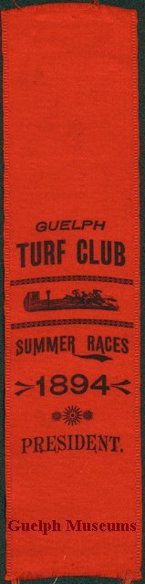 Guelph Turf Club Summer Races Director Ribbon