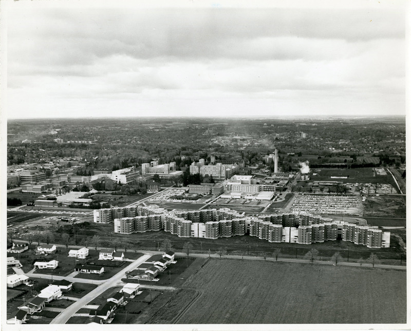 Aerial View of South Residence, Looking North ca 1969