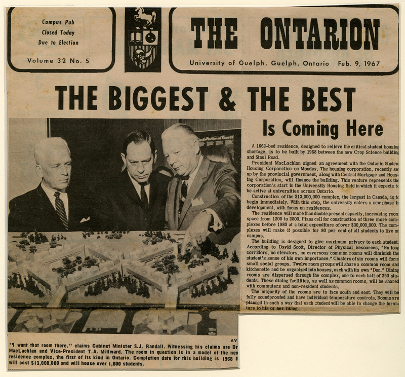 """The Biggest & The Best in Coming Here,"" The Ontarion, Volume 32, No. 5, February 9, 1967, (Guelph: The Ontarion, Inc.)"