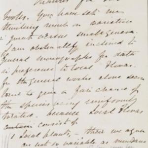 Letter from Joseph Hooker to Charles Darwin