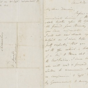 Letter from John Henslow to Charles Darwin