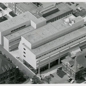 Aerial Photograph of Physical Sciences Building (ca 1969)