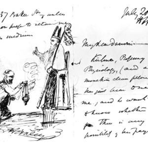 Letter from Thomas Huxley to Charles Darwin (including drawing)