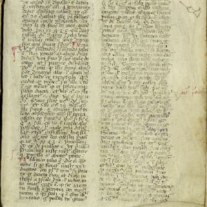 Image of page 1 of the Psalter with manuscript writing in Latin in two columns