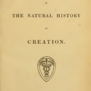Vestiges on the Natural History of Creation