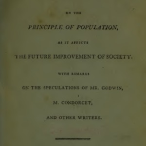 An Essay on the Principles of Population