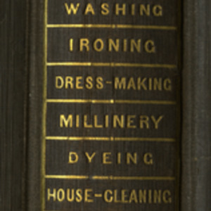 Miss Leslie's lady's house-book : manual of domestic economy, containing approved directions for washing, dress-making, millinery, dyeing, cleaning, quilting, table-linen, window-washing, wood-fires, straw bonnets, silk stockings, rag carpets, plated-ware, porcelain, house-cleaning, laundry-work, coal-grate fires, evening parties, &c
