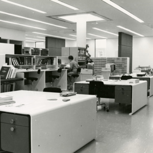 Acquisitions and Cataloguing Area, McLaughlin Library (ca 1968)