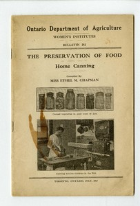 The Preservation of Food: Home Canning