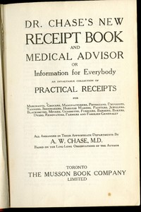 Dr. Chase's New Receipt Book and Medical Advisor